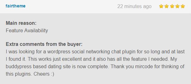 WordPress, BuddyPress Users Chat Plugin - 7